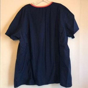 Med Couture Tops - Navy Blue Med Couture Scrub Top, 3X, Elastic Back